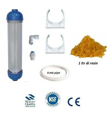 L68 Refillable InLine Filter Housing Reverse Osmosis / RO for DI Resin , Carbon