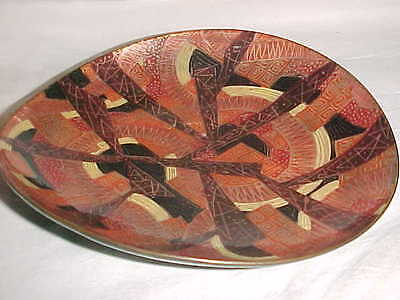 Rare 1950S Kathe Berl Modern Enamel Copper Art Bowl Midcentury Abstract Painting