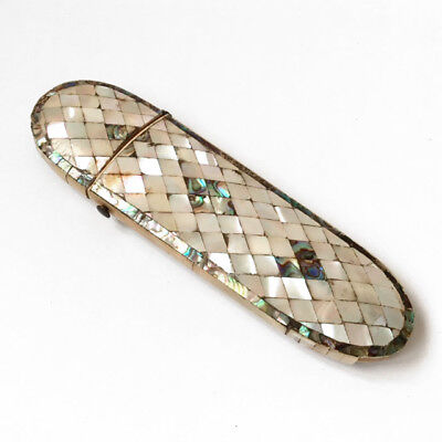 ANTIQUE  MOTHER OF PEARL SPECTACLE CASE ANTIQUE  EYEGLASSES CASE 19th C