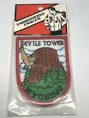 "Devils Tower Wymoing Embroidered 3"" x 2"" Embroidered Emblem Patch New In Package"
