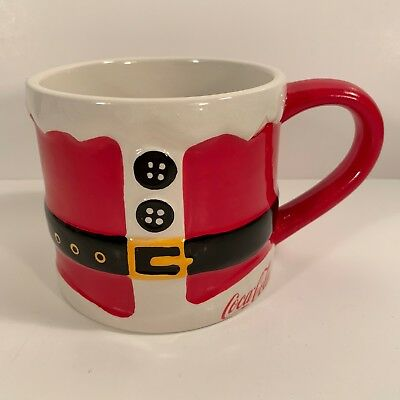 Coca Cola Santa Suit Coffee Mug Christmas Ceramic Cup Holiday