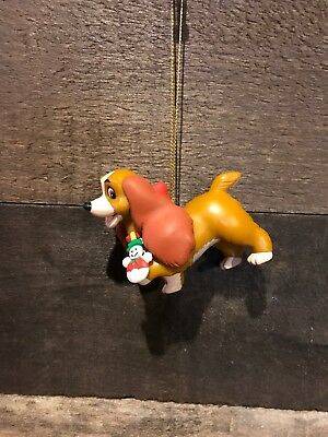 LADY- LADY AND THE TRAMP DISNEY GROLIER CHRISTMAS ORNAMENT no box