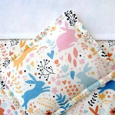 Dolls Pram Cot Bedding Set - Cute Woodland Bunnies