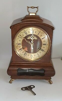 Wuba Warmink Biedemeijer Vintage Dutch Mantel clock Bell Chime