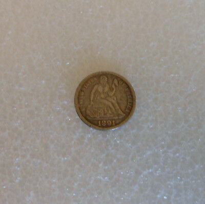 United States Seated Liberty Dime 1891