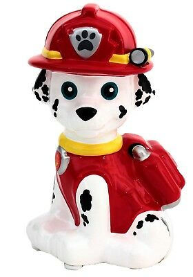 """Nickelodeon Paw Patrol Marshall 7"""" Ceramic Coin Piggy Bank GREAT HOLIDAY GIFT"""