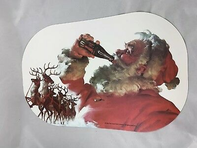 1994 Coca Cola Santa Claus Reindeer Set Of 4 Placemats I Set