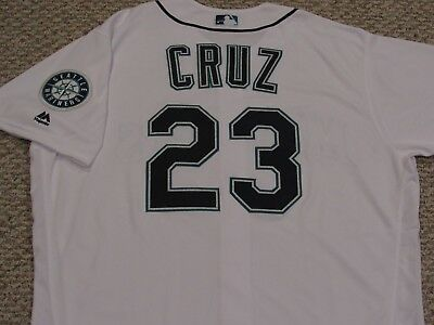 f2fcf8777a4 Nelson Cruz size 52  23 2016 Seattle Mariners game jersey issued Home White  MLB