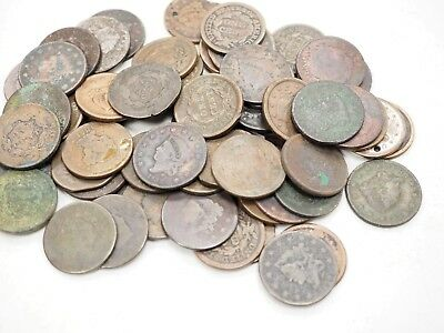 LOT OF 62 US Large Cent CULL Coins Lot