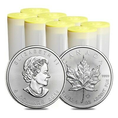 Lot of 200 - 2019 1 oz Canadian Silver Maple Leaf .9999 Fine $5 Coin BU (8