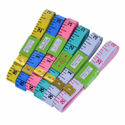 "3pcs Body Measuring Ruler Sewing Cloth Tailor Tape Measure Soft Flat 60"" 1.5M Y0"