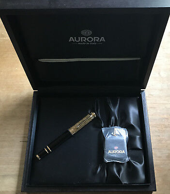 Aurora Giuseppe Verdi Opera Fountain Pen with Inkwell, Box, Paperwork 1658/1919