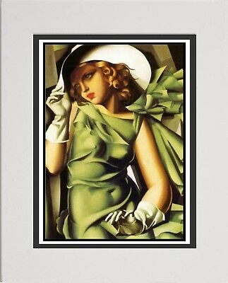 Tamara de Lempica Art Deco Print .Young Lady With Gloves 1930 Wall Hanging. 13