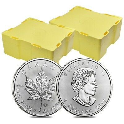 2 Monster Box of 500 - 2019 1 oz Canadian Silver Maple Leaf .9999 Fine $5 Coin