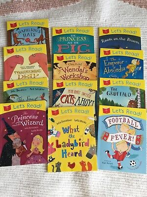 """LET""""S READ 12 Book Collection by Julia Donaldson & Others"""