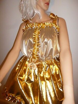 Xmas Gold Sparkle Fairy  Baby Doll/ Dress and Hairband SISSY,CD,Adult Baby