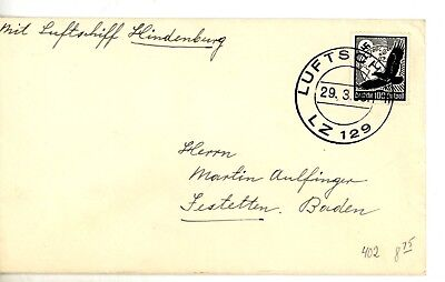 1939 GERMANY GRAF ZEPPELIN Germany  Cover G15