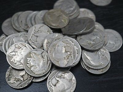 Roll (40 coins) No Date Indian Head Buffalo Nickels