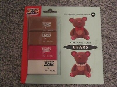 Fimo Soft Create Your Own Bears Oven Bake Modelling Clay Set