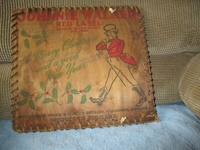 Johnnie Walker Red Label advertising, Christmas ad, end of wooden shipping crate