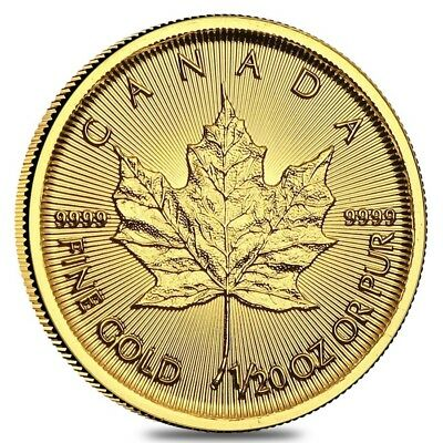 2019 1/20 oz Canadian Gold Maple Leaf $1 Coin .9999 Fine BU (Sealed)