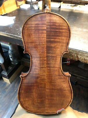 Old 4/4 German Violin, Repair - Rebuilt In Ohio 1904 For Parts Vintage