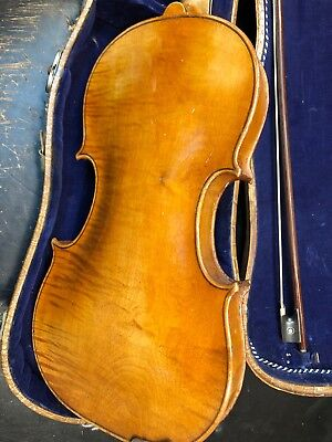 Old 4/4 German 1617 Amati Violin, Repair - For Parts Vintage One Piece Back!