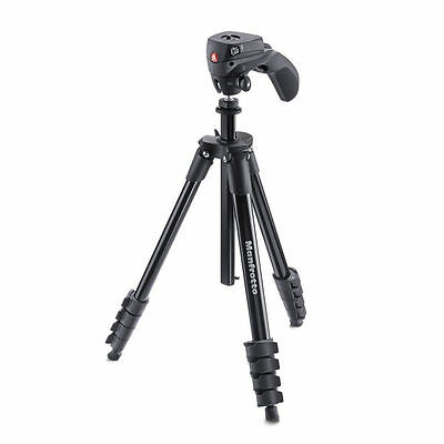Manfrotto Compact Action Tripod Aluminum Black MKCOMPACTACN-BK