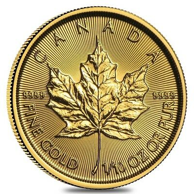 2019 1/10 oz Canadian Gold Maple Leaf $5 Coin .9999 Fine BU (Sealed)