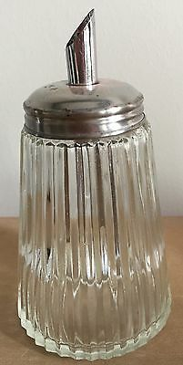 Vintage glass and metal sugar shaker