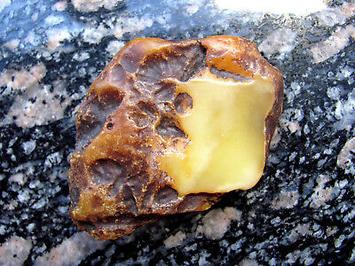 71 gr raw rough Baltic amber stone rock butterscotch beeswax