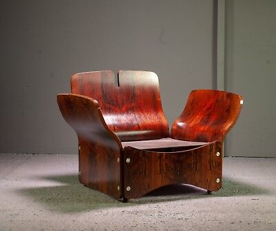 Rare Rosewood Lounge Chair by Max Clendinning mid century 1960s