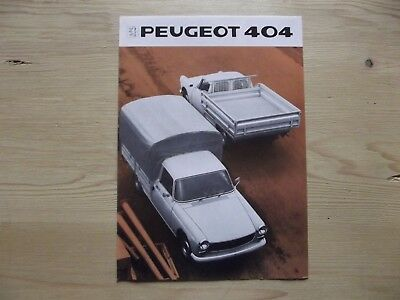 Catalogue Peugeot 404 Camionnette.