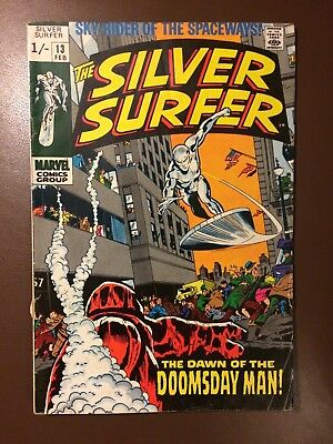 Marvel comics : SILVER SURFER # 13 ,1970, VG+ condition
