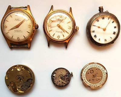 Wristwatches  & FobWatches - nice Lot of 7 -  1913 to 1960s