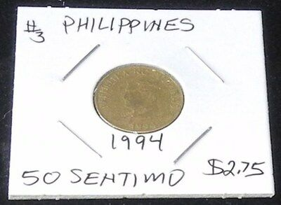 NICE TWO COIN SET Philippines 1994 50 SENTIMOS  & 1992 1 PISO Pieces