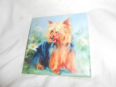 "SILKY TERRIER  6"" x 6"" Ceramic Art Tile Free Shipping"