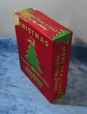 Vintage Christmas Snow Fireproof Mica Flakes - 4 oz. box  1/3 FULL ???