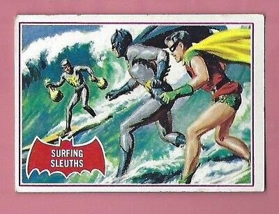 1966 Topps Red Batman Card #20A   Ex  Shipping .50 Cents