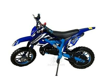 49Cc Mini Motor Dirt Bike Kids Pocket Rocket Pee Wee Motorcycle Atv 50Cc Blue