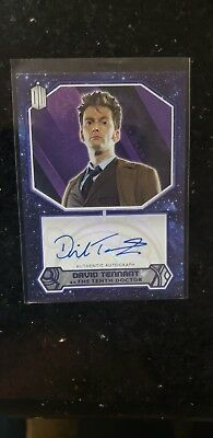 Doctor Who Topps 2015 Autograph Card # 2/25 David Tennant Tenth Doctor Auto