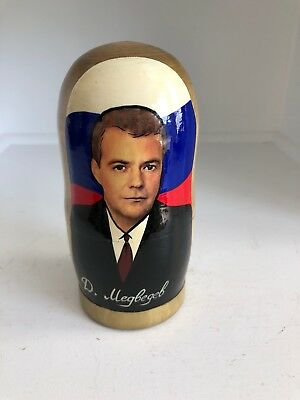 Russian Presidents Dmitry Medvedev Vladimir Putin  and others Matryoshka Doll
