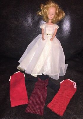 Vintage Lot Blonde American Character Tressy TLC Doll with Dresses