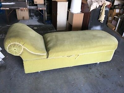 chaise lounge antique with storage compartment