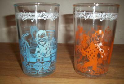 Lot of 2 Different 1950's WELCH'S JELLY / HOWDY DOODY CHARACTER GLASSES
