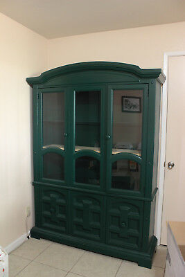 Large China Cabinet - Green