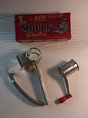 Vintage household Mouli grater mid century in great shape and the original box