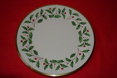 LENOX CHINA HOLIDAY DINNER PLATE - MILLENNIUM EDITION Christmas
