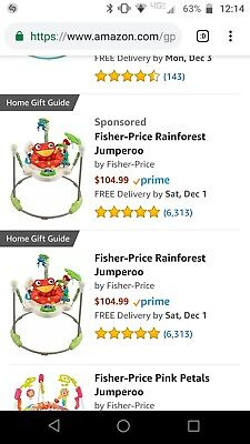 d81a1450f FISHER-PRICE RAINFOREST JUMPEROO -  56.00