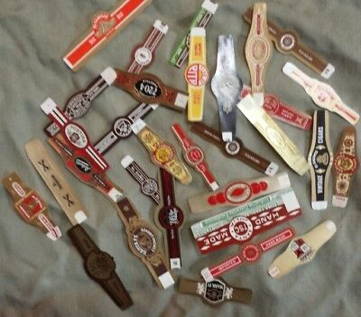 30 Assorted Cigar Bands #2 - Vintage - All Different - Never applied to cigar